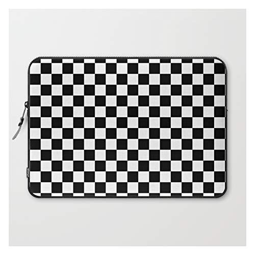 Black Checkerboard Pattern by Coolfunawesometime on Laptop Sleeve - Laptop Sleeve - 15'
