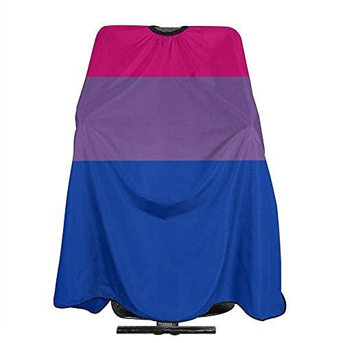 Barber Cape Bi Biseksuele Pride Vlag Streep Mode Kapper Aprons Professionele Barber Cape 140X168Cm Unisex Salon Haar Styling Snijden Kapsel Aprons