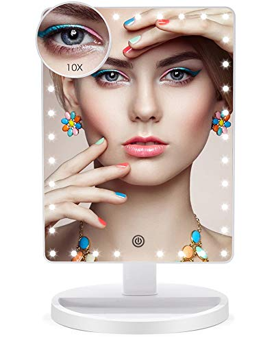 Faszinate 35 LED großes Licht LED Spiegel Licht tragbar Kosmetikspiegel 360 Grad Rotation Touchscreen Licht verstellbar Makeup Tischspiegel