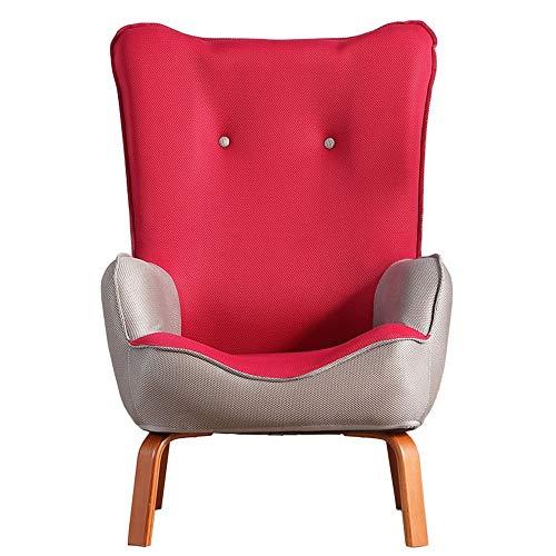 Schlafzimmer Faule Sofa Sessel Schlafzimmer Wohnzimmer Büro Lounge Rezeption Moderner Stuhl aus geknöpftem Leinenstoff Wannenstuhl Hohe Zurück Home Kleine Wohnung Wohnzimmer