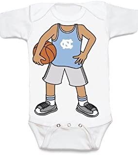 Future Tailgater North Carolina Tar Heels Heads Up! Basketball Baby Onesie
