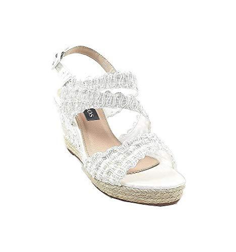 Timbos Zapatos - 121998 Cuña Novia Esparto, para Mujer, Color Blanco, Material...