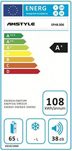 Amstyle Minikühlschrank 65 Liter - 2