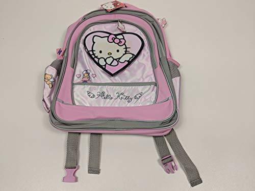 Sanrio Hello Kitty Kinderrucksack mit Träger und Vordertaschen Schulranzen Schultasche