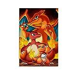 WERTQ Pósters de Pokémon sobre lienzo y póster de pared, impresión de imagen moderna para habitación familiar, 30 x 45 cm