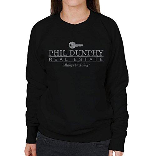 Phil Dunphy Real Estate altijd sluiten moderne familie vrouwen Sweatshirt