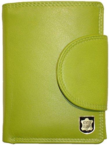 Josephine Osthoff Handtaschen-Manufaktur Wiener Minibrieftasche Limone mit RFID Doppelnaht Leder Geldbörse 934/59