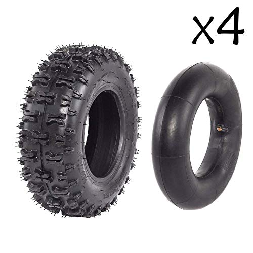 "WPHMOTO 4PCS 4.10-6"" Tire Inner Tube Go Kart ATV Quad Scooter Mini Bike"