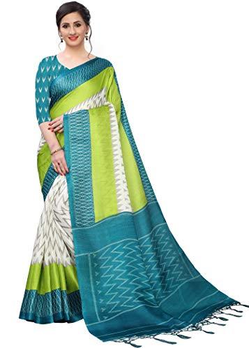BHAKARWADi Women's Khadi Silk Saree with Blouse Piece (RUC-123_Variation)