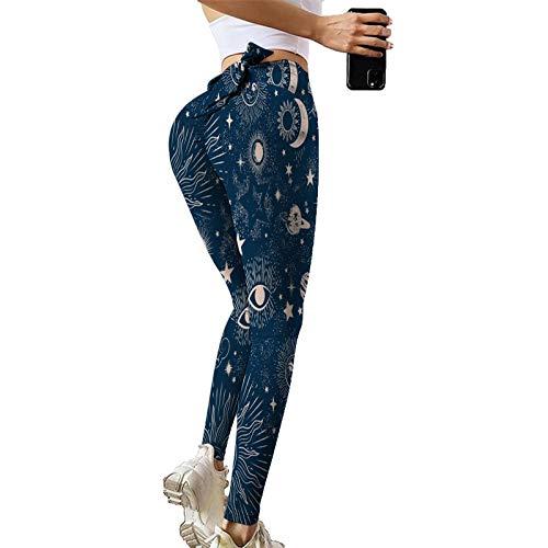 GZMMYI Pantaloni Yoga Donna Vita Alta Pantaloni Yoga Donna Push Up Stampa Non di Posizionamento Pantaloni da Yoga Allenarsi Esecuzione di Yoga Controllo Addominale Pantaloni Ad Asciugatura Rapida