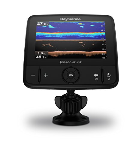 Raymarine Dragonfly Pro CHIRP Fish Finder with built in GPS and WiFi with Navionics+ Charts and Transducer