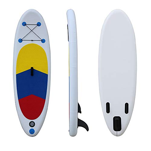 NgMik Tabla De Surf Inflable Stand Up Paddle Board 15 Cm De Grueso Durable Y Ligero con Accesorios Estable (Color : White, Size : 243x75x15cm)