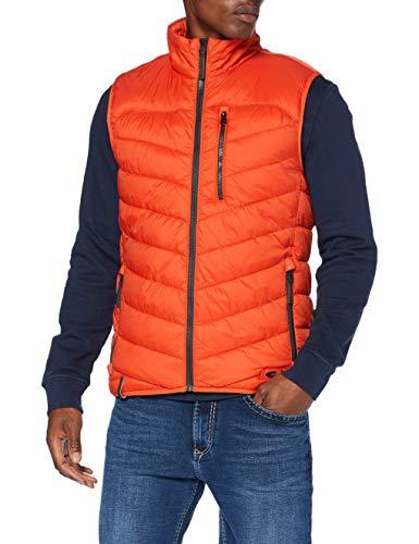camel active Herren 4601004E5254 Fleece-Weste, Pumpkin, 52
