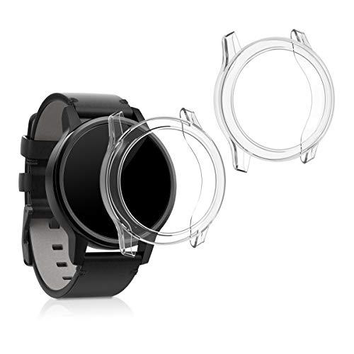 kwmobile 2 Pack de Fundas Compatible con Fitness Tracker Garmin Vivomove 3S - Case en Transparente