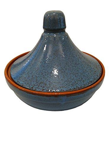 Coli Maioliche e Terrecotte dal 1650 Tajine, Capacita di 1.5 litri, Diametro 25 cm, Blu Antico