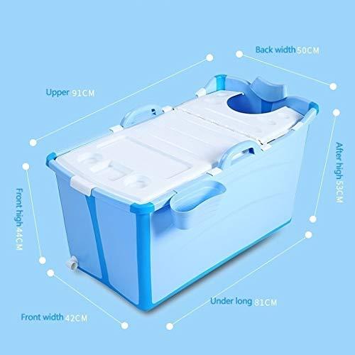 Zylxnt Tragbare Faltbare Badewanne für Erwachsene, große klappbare Badewanne für den Haushalt (Color : Blue)