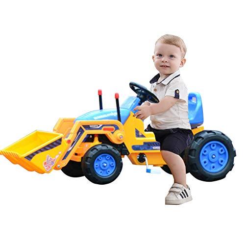 FXQIN Elektrischer Bulldozer Kinder Sitzbagger, Kinderauto Bagger für Kleinkinder 3-5 Jahre alt,...