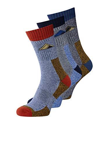 Jack & Jones Jachiking Tennis Sock 3 Pack Calcetines de tenis, Asfalto, One Size para Hombre