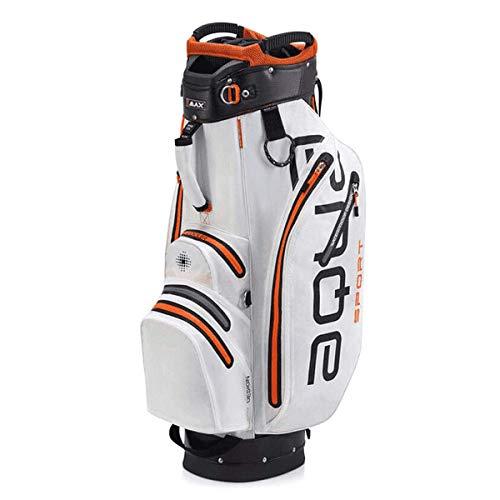 BIG MAX AQUA Sport 2 Golf Cartbag 2018 - 100% Wasserdicht (White/Black/Orange)