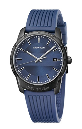 Calvin Klein Reloj para de con Correa en Caucho K8R114VN