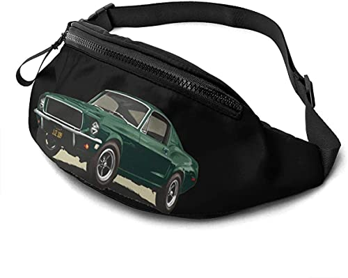 asdew987 Bolso de cintura casual ligero Fanny Pack Travel Bum Bolsas ajustables para correr bolsillo Bullitt Gt Classic