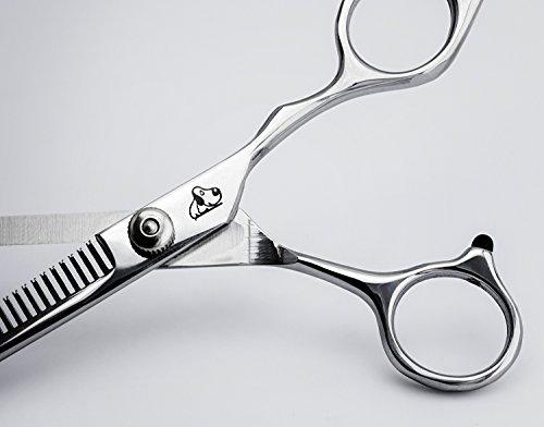 Effilierschere Fellschere Hundeschere Einseitig gezahnte Effilierschere Scheren aus Metall / Marke PRECORN - 5