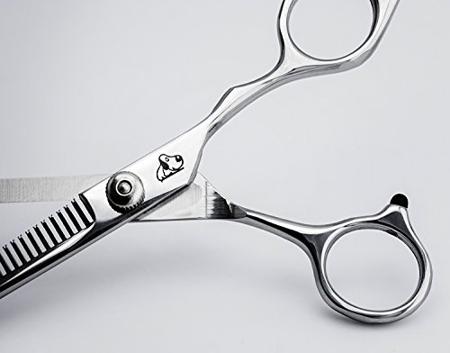 Effilierschere Fellschere Hundeschere Einseitig gezahnte Effilierschere Scheren aus Metall / Marke PRECORN - 2