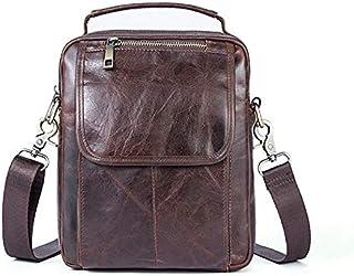 YXHM AU Men's Business Bag Genuine Leather Cowhide Men's One-Shoulder Small Bag (Color : Oil Coffee)
