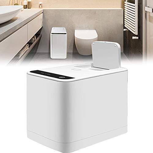 WDSZXH Baño Papel Higiénico Trituradora, Inteligente Silencioso Servilleta Sanitaria Procesador, Impermeable Botón Táctil Bote de Basura, Fácil de Usar