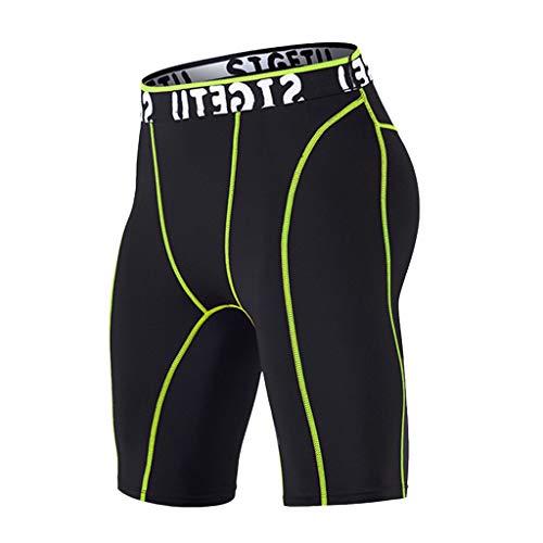 Azruma Kompression Shorts Kurze Hose Herren Sportswear Unterhose Boxershorts Compression Shorts Hosen Workout Fitness Sport Shorts Badeshor Freizeit Streifen Short Badeshorts