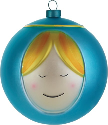 Alessi Amj13 2 Madonna Boule de Noël en Verre Soufflé, decorée à la Main