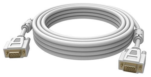 Vision 2X VGA 15-pin D-Sub, 3m - VGA-Kabel (3m, 3 m, VGA (D-Sub), VGA (D-Sub), Männlich, Männlich, Weiß)