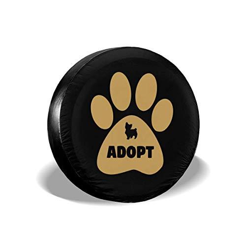 Enoqunt Niet winkelen, hond adopteren. Reserverad-wieldop geschikt voor voordelige caravans en vele voertuigen