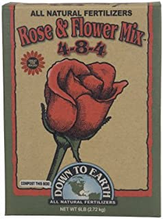 Down To Earth All Natural Fertilizers 07820 Down to Earth Rose & Flower Mix-5 lb Fertilizer, Brown