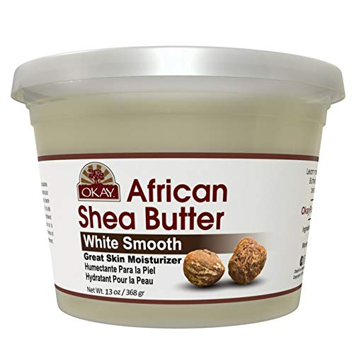 OKAY | African Shea Butter | For All Hair Textures & Skin Types | Daily Moisturizer - Soothe Irritation | White Smooth Refined | All Natural | 13 Oz
