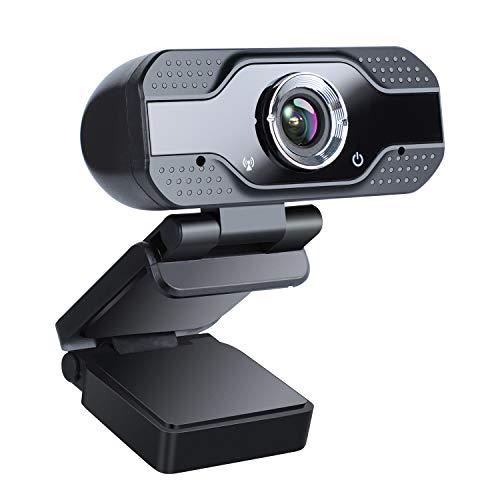 zilnk Webcam 1080P con Microfono Stereo, USB Webcam per PC Fisso e Laptop, Streaming Webcam per Skype, Videochiamate, Studio, Conferenza, Registrazione, Lavoro a Casa Videocamera per Computer