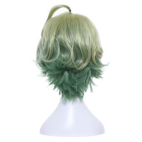 JPDP L-email wig Brand New Game SINoALICE Pelucas de Cosplay 6 Personajes Pelo sintético resistente al calor Perucas Cosplay Peluca 21.65inches Verde