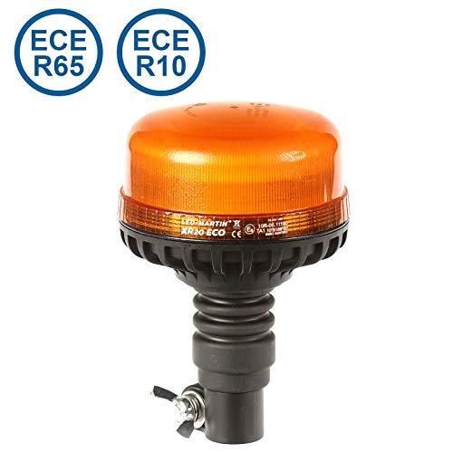 LED-MARTIN - XR20 ECO Rundumleuchte - gelb - DIN 24,0mm flexibel - aufsteckbar - 12V/24V - ECE-R65 - kompakte Bauform
