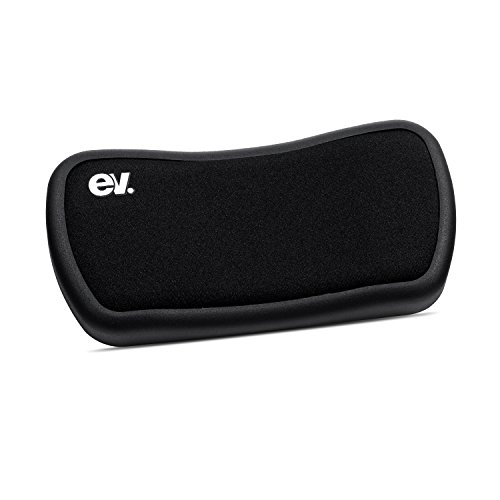 EV Rolling Wrist Rest Ergonomic Mouse Wrist Pad Soft Gel Hand Pillow with 4 Wheels