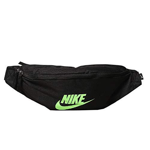 Nike Heritage - Marsupio unisex, colore: Nero/Lime Blast, taglia unica