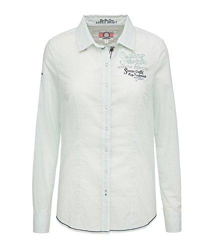 SOCCX Damen Bluse mit Allover Print