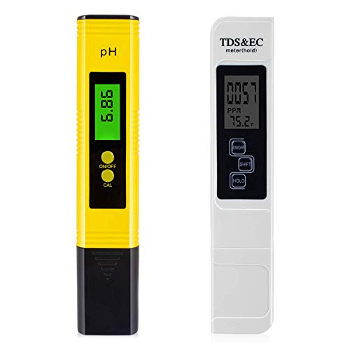 TDS Meter Digital Water Tester – Combo with pH Tester Digital, Portable and Instantly, and Accuracy pH Meter for Water by Sixia