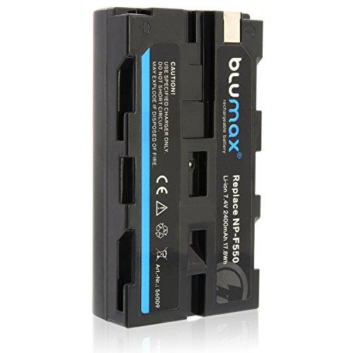 blumax Batería NP-F550 Compatible con Diversos Modelos de cámaras Digitales de Sony 2400mAh, 7,4V 17,8Wh más Capacidad Que la batería Original
