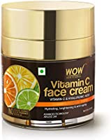 WOW Skin Science Vitamin C Face Cream - Oil Free, Quick Absorbing - For All Skin Types - No Parabens, Silicones, Color,...