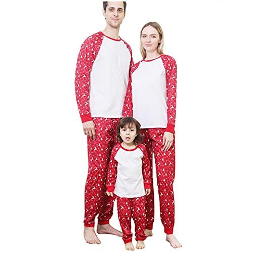 Alueeu Navidad Pijamas Dos Piezas Familiares Conjuntos Algodón para Mujeres Hombres Niño Bebé Ropa para Dormir Otoño Invierno Sudadera Chándal Suéter Casual Homewear