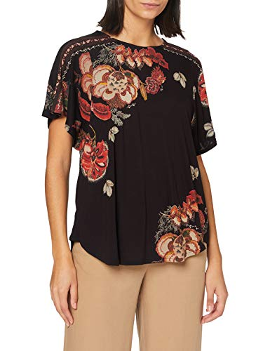 Desigual TS_Gabi Camiseta, Negro, XL para Mujer