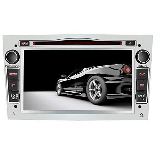 AWESAFE Radio Coche 7 Pulgadas con Pantalla Táctil 2 DIN para Opel, Opel Autoradio con Bluetooth/GPS/FM/RDS/CD DVD/USB/SD, Apoyo Mandos Volante, Mirrorlink y Aparcacimiento (Plata)