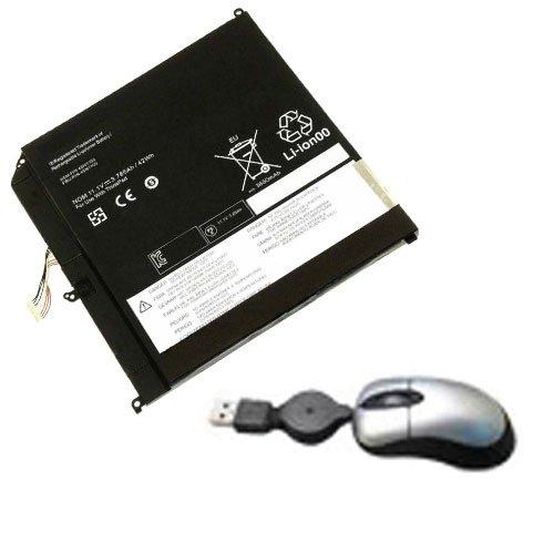 Amsahr LEN45N1102-05 - Batería de reemplazo para IBM/Lenovo 45N1102, Lenovo ThinkPad Helix, 45N1102 (Incluye Mini ratón óptico) Color Gris