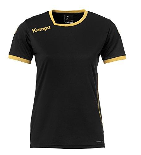 Kempa Damen Curve Trikot, schwarz/Gold, M