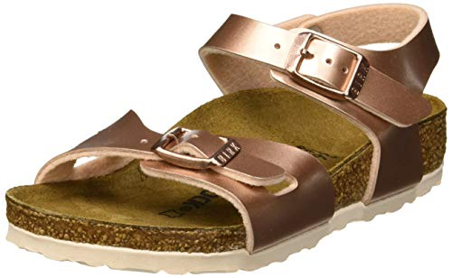 BIRKENSTOCK Damen Rio Knöchelriemchen Sandalen, Braun (Electric Metallic Copper Electric Metallic Copper), 36 EU